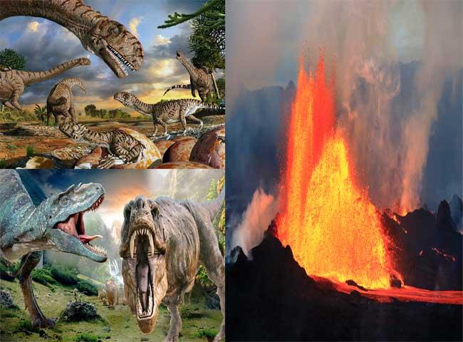 तस्वीरों में जानें कैसे लुप्त हुए थे धरती के डायनासोर