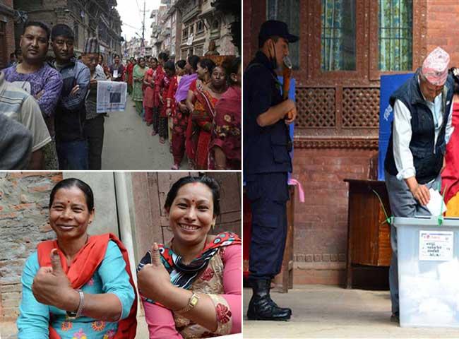20 साल बाद नेपाल में हो रहा ऐतिहासिक स्थानीय निकाय चुनाव, देखें तस्वीरें