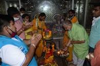 सेवक मंडल के सदस्यों ने भगवान शिव का किया रुद्राभिषेक