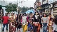 भगवान वाल्मीकि जी के प्रगट दिवस पर निकाली शोभायात्रा