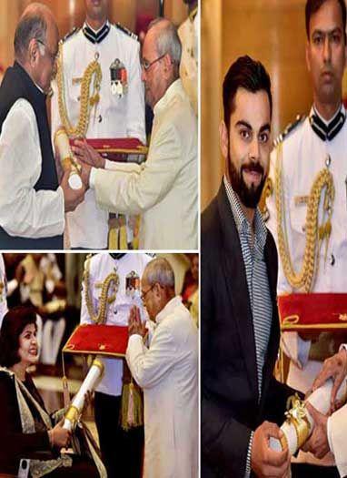 पद्म पुरस्कार : विराट, पवार और दीपा मलिक समेत 89 हस्तियों को सम्मान
