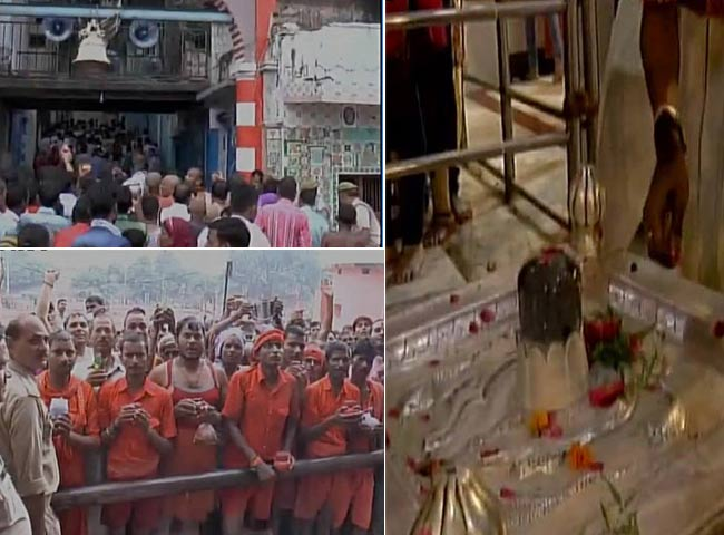 तस्वीरें: सावन के चौथे सोमवार को शिव मंदिरों में उमड़े श्रद्धालु