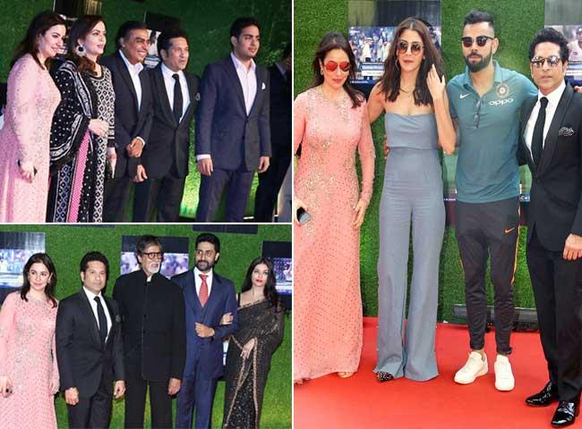 देखें, सचिन की फिल्म के प्रीमियर में उमड़े भारत के सबसे 'दिग्गज' लोग