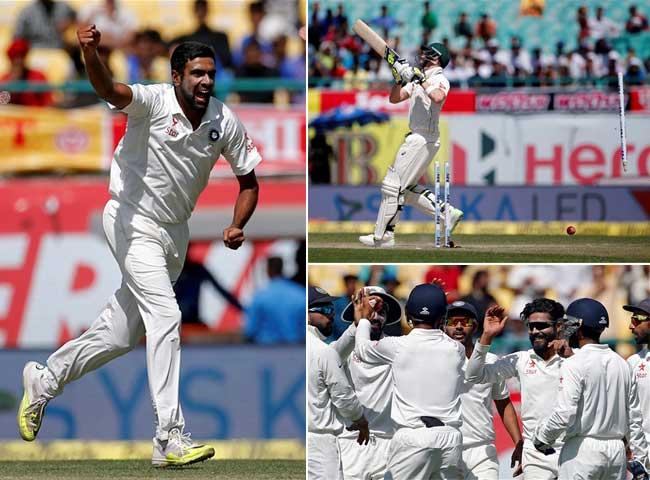 धर्मशाला टेस्ट: अश्विन-जड़ेजा की फिरकी में उलझे कंगारू, दूसरी पारी में 137 रन पर ढेर