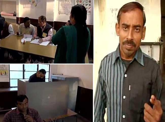 तस्वीरें : चौथे चरण में 12 जिलों की 53 सीटों पर मतदान शुरू, सुरक्षा के कड़े इंतजाम