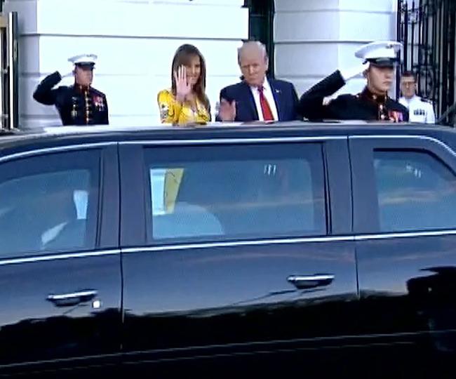 देखें, व्हाइट में पत्नी के साथ ट्रंप ने कैसे किया पीएम मोदी का स्वागत