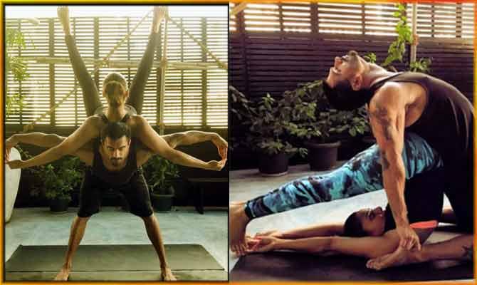 योगा डे पर बिपाशा और करण सिंह ने किया ऐसा LOVE YOGA, देखकर हो जाएगा प्यार