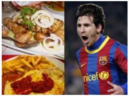 Lionel Messi loves Junk Food