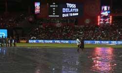 IPL 2017 : बारिश ने रद्द कराया मैच, रॉयल चैलेंजर्स बैंगलोर और सनराइजर्स हैदराबाद को मिले 1-1 रन
