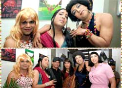 Mika Singh, Rajpal Yadav & Vindu Dara Singh dress up as woman - Funny !