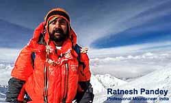मिलिए रत्नेश पांडेय से, जिन्होंने माउंट एवरेस्ट पर पहली बार गाया राष्ट्रगान और बनाया वर्ल्ड रिकॉर्ड
