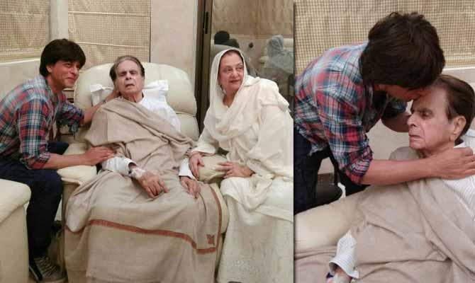 'मुंह बोले बेटे' शाहरुख पहुंचे बीमार दिलीप कुमार के घर, ये इमोशनल तस्वीरें छू लेंगी आपका दिल
