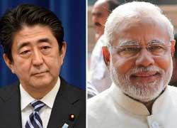जापान पहुंचे नरेंद्र मोदी, पीएम शिंजो अबे ने किया स्वागत