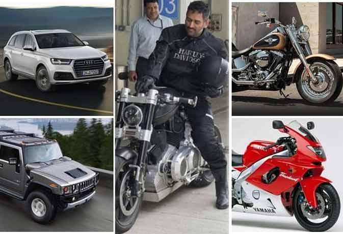 देखिए महेंद्र सिंह धोनी का बाइक और कार कलेक्शन
