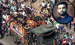 आतंकी हमले में शहीद कैप्टन आयुष को अंतिम विदाई देने उमड़ा पूरा कानपुर