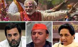 UP Election results 2017: यूपी में मोदी मैजिक के बाद राहुल ने दी बधाई तो अखिलेश ने कहा बहकावे में लोकतंत्र, माया की मांग चुनाव हो रद