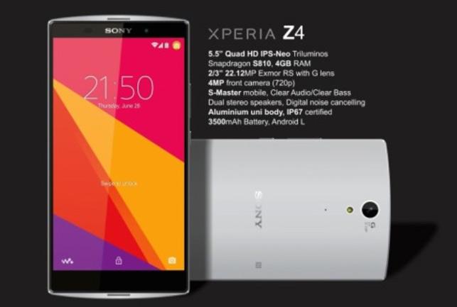 मार्च 2015 में लॉन्च होगा Sony Xperia Z4 स्मार्टफोन