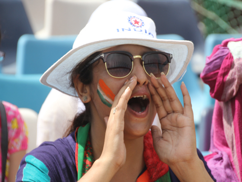 Indian cricket fans happy for victory of India against new zealand