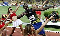9.95 सेकंड में बोल्ट ने जीती 100 मीटर की रेस