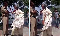 जमाना खराब है पुलिसमैन की ईमानदारी पर महिला ने उसे सरेआम दी धमकी और गालियां