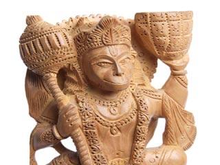 यहां हैं गोबर से बने हनुमानजी की 300 वर्ष पुरानी मूर्ति