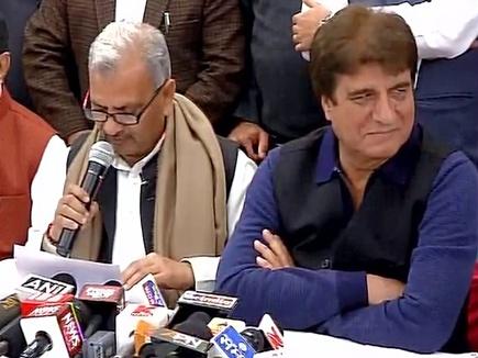 यूपी में सपा और कांग्रेस मिलकर लडेंगी चुनाव, गठबंधन की घोषणा