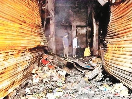fire in hotel raipur 12 04 2017
