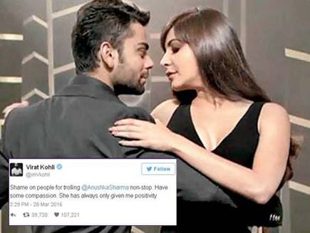 अनुष्का को लेकर विराट का 'शर्म करो'…ट्वीट बना 2016 का गोल्डन ट्वीट ऑफ
