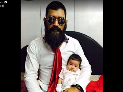 धोनी और बेटी जीवा की प्यारी फोटो सोशल मीडिया पर वायरल