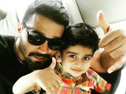 Photo of Murali Vijay & his  Son  Naveen