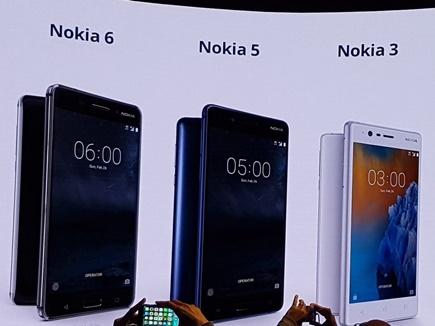 भारत में लॉन्च हुए Nokia 3, Nokia 5 और Nokia 6 स्मार्टफोन्स
