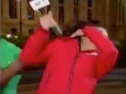 न्यूज चैनल पर लाइव खबर दे रही पत्रकार पर हमला