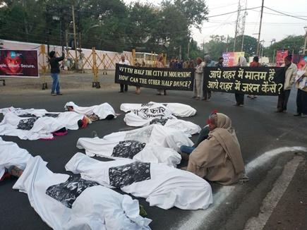 गैस पीडि़तों ने किया 'रन भोपाल रन' का विरोध