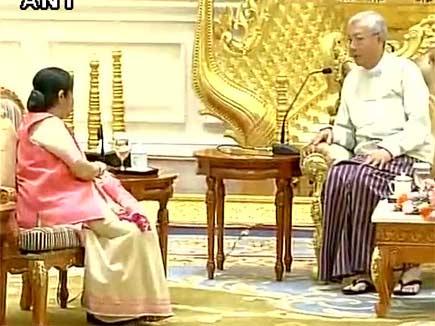sushma-swaraj-myanmar-president 2016822 144610 22 08 2016