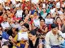 teachers on protest cg 25 11 2017