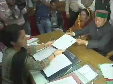 virbhadra singh files nomination 20 10 2017