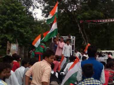 स्वतंत्रता दिवस पर युवा कांग्रेस ने निकाली रैली