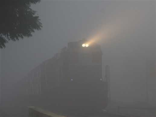 18 trains cancell due to fog