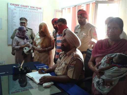 New born baby bargaing five arrest