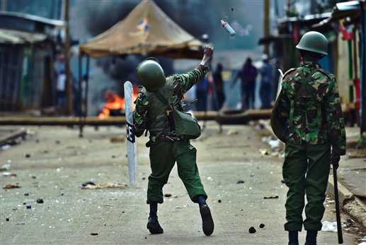 4 died in a protest in kenya