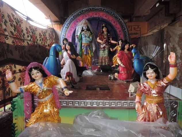 राजनांदगांव में गणेशोत्सव के दौरान बनी आकर्षक झांकियां