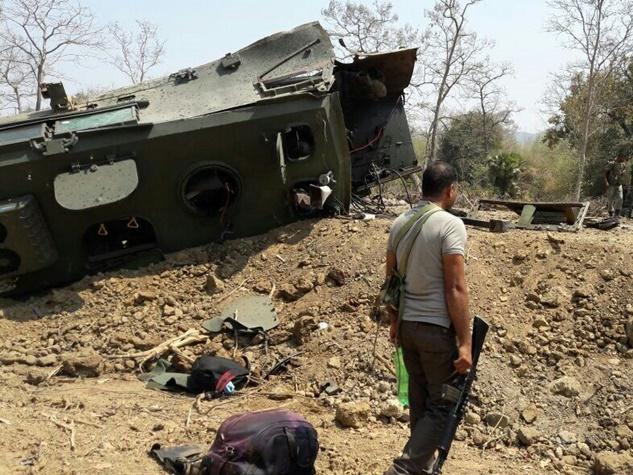 सुकमा : नक्सली हमले में ऐसे उड़ गए वाहन के परखच्चे