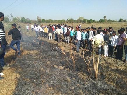 शुजालपुर में कार से टकराई बाइक, बाइक सवार की जलकर मौत