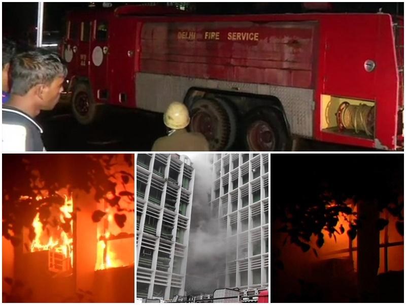 Delhi AIIMS Fire : 45 दमकलों ने दोबारा लगी आग पर पाया काबू, AC का कंप्रेसर फटने से हुआ था हादसा