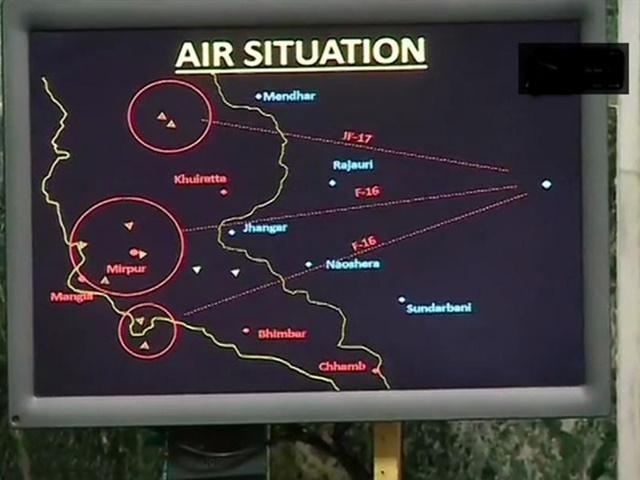 वायुसेना ने F-16 को मार गिराने के सबूत पेश किए