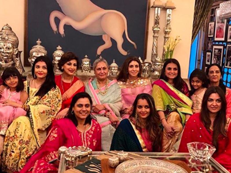 Karwa Chauth पर एक साथ... Aishwarya Rai ने सास Jaya Bachchan और ननद संग की पूजा