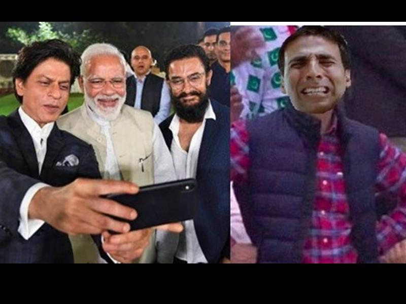 PM Modi के साथ शाहरुख-आमिर की सेल्फी के कारण Akshay Kumar हुए ट्रोल, देखिए मजेदार Memes