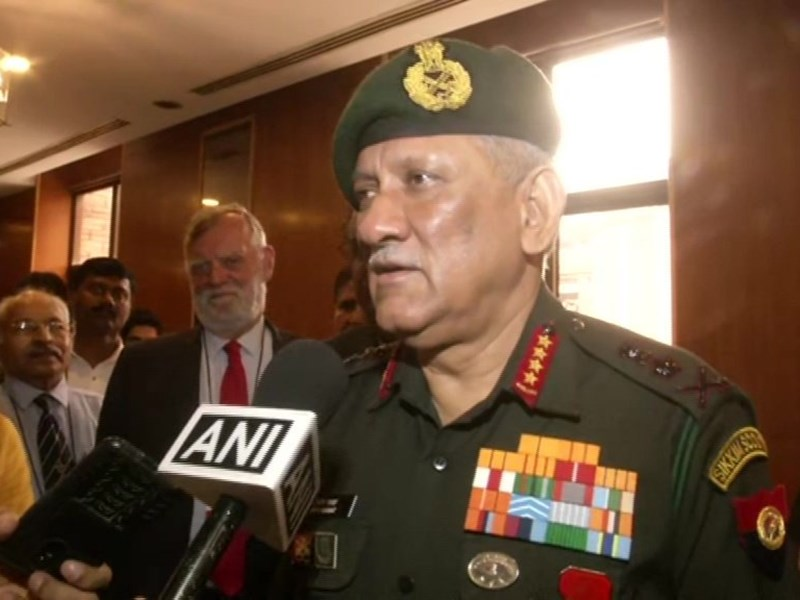बौखलाए पाकिस्तान की धमकियों के बीच आर्मी चीफ बिपिन रावत ने पाक को चेताया - 'हम पूरी तरह हैं तैयार'