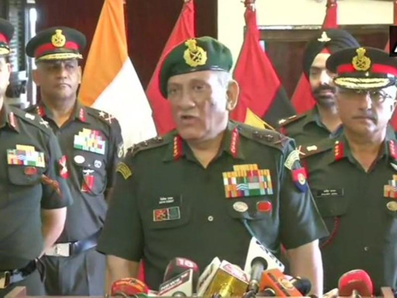 सेना प्रमुख बिपिन रावत ने कहा- 'बालाकोट मे फिर आतंकी कैंप सक्रिय, 500 आतंकी घुसपैठ का कर रहे इंतजार'
