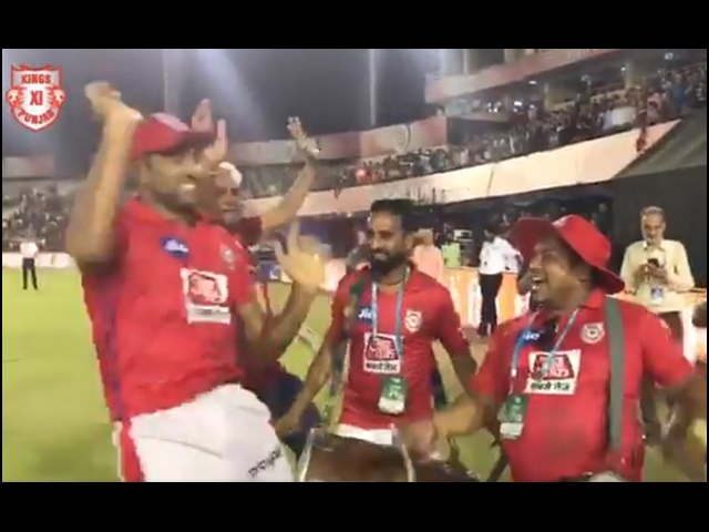 Video IPL 2019:  रोमांचक जीत के बाद अश्विन ने किया भांगड़ा, ढोल पर भी बैठे